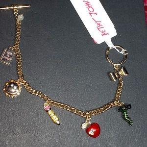 Betsey Johnson school charm bracelet